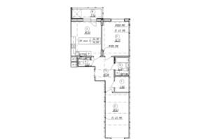 ЖК Wellspring: планування 2-кімнатної квартири 75 м²
