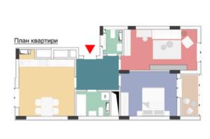 ЖК Wellspring: планування 2-кімнатної квартири 71.95 м²
