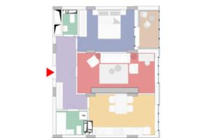 ЖК Wellspring: планування 2-кімнатної квартири 63.3 м²