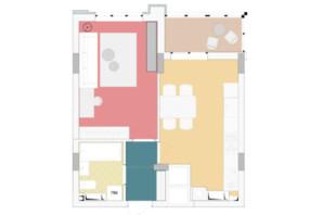 ЖК Wellspring: планування 1-кімнатної квартири 42.31 м²