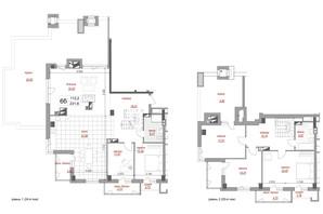ЖК West House: планировка 5-комнатной квартиры 231.6 м²