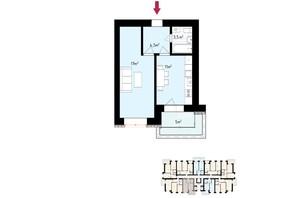 ЖК White house: планування 1-кімнатної квартири 41 м²