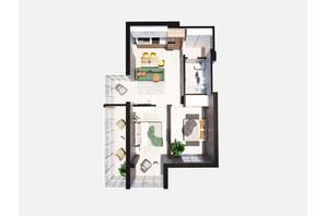 ЖК Янтарный: планировка 2-комнатной квартиры 70.18 м²