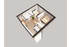 ЖК Янтарный: планировка 2-комнатной квартиры 63.22 м²