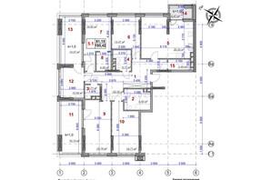 ЖК Ярославов Град: планировка 5-комнатной квартиры 195.42 м²