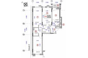 ЖК Ярославов Град: планировка 3-комнатной квартиры 102.18 м²