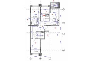 ЖК Ярославов Град: планировка 3-комнатной квартиры 101.2 м²