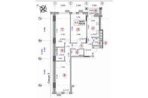 ЖК Ярославов Град: планировка 3-комнатной квартиры 104.51 м²
