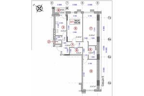 ЖК Ярославов Град: планировка 3-комнатной квартиры 103.5 м²