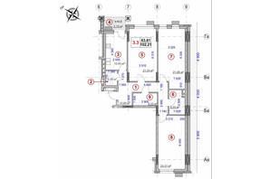 ЖК Ярославов Град: планировка 3-комнатной квартиры 102.21 м²