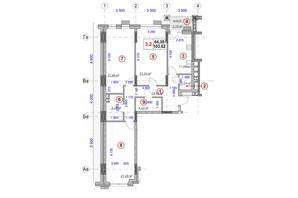 ЖК Ярославов Град: планировка 3-комнатной квартиры 103.62 м²