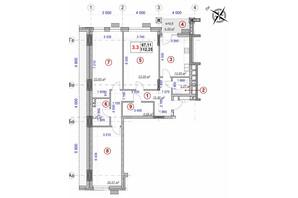 ЖК Ярославов Град: планировка 3-комнатной квартиры 112.25 м²