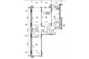 ЖК Ярославов Град: планировка 3-комнатной квартиры 103.45 м²