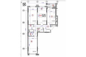 ЖК Ярославов Град: планировка 3-комнатной квартиры 106.31 м²