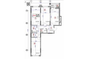 ЖК Ярославов Град: планировка 3-комнатной квартиры 104.9 м²