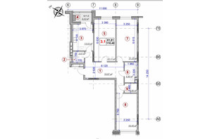 ЖК Ярославов Град: планировка 3-комнатной квартиры 110.4 м²