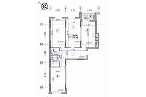 ЖК Ярославов Град: планировка 3-комнатной квартиры 106.08 м²