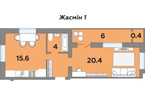 ЖК Яровиця: планування 1-кімнатної квартири 48 м²