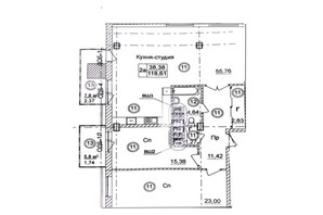 ЖК Ясна поляна 2: планування 3-кімнатної квартири 118.7 м²