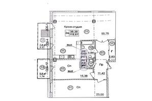 ЖК Ясная поляна 2: планировка 3-комнатной квартиры 118.7 м²
