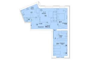 ЖК Єлецький: планування 3-кімнатної квартири 87.95 м²