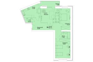 ЖК Єлецький: планування 3-кімнатної квартири 89.12 м²