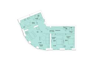 ЖК Єлецький: планування 3-кімнатної квартири 112.2 м²