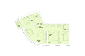 ЖК Єлецький: планування 3-кімнатної квартири 112.81 м²