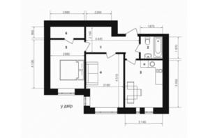 ЖК Європейка: планування 2-кімнатної квартири 57.3 м²