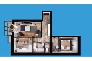 ЖК Європейський Двір: планування 2-кімнатної квартири 60.13 м²