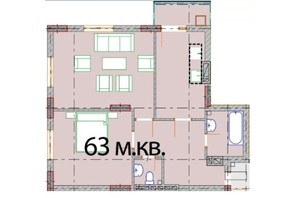 ЖК Європейський Квартал: планування 2-кімнатної квартири 63 м²