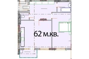 ЖК Європейський Квартал: вільне планування квартири 62 м²