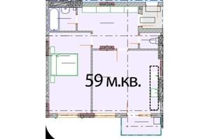 ЖК Європейський Квартал: вільне планування квартири 59 м²