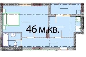 ЖК Європейський Квартал: планування 1-кімнатної квартири 46 м²