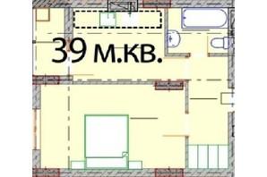 ЖК Європейський Квартал: планування 1-кімнатної квартири 39 м²