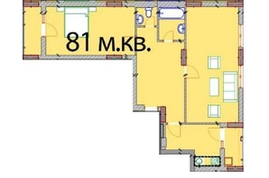 ЖК Європейський Квартал: планування 2-кімнатної квартири 81 м²