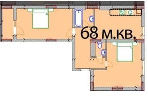 ЖК Європейський Квартал: планування 2-кімнатної квартири 68 м²