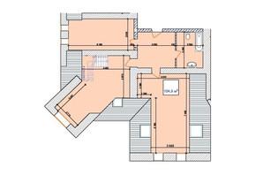 ЖК Замок Наваль: планировка 2-комнатной квартиры 104.9 м²