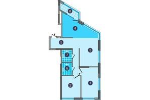 ЖК Заречный: планировка 2-комнатной квартиры 92.78 м²