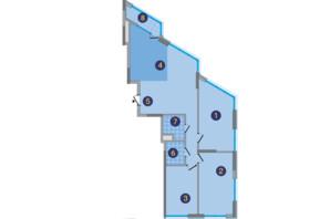ЖК Заречный: планировка 3-комнатной квартиры 118.71 м²