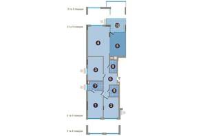 ЖК Заречный: планировка 4-комнатной квартиры 140.56 м²