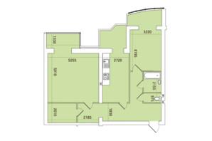 ЖК Заречный: планировка 2-комнатной квартиры 101.73 м²
