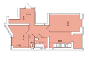 ЖК Заречный: планировка 2-комнатной квартиры 66.17 м²