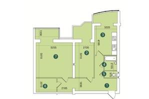 ЖК Заречный: планировка 2-комнатной квартиры 108 м²