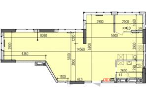 ЖК Затишний-2: планировка 2-комнатной квартиры 70.8 м²