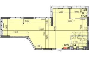 ЖК Затишний-2: планировка 2-комнатной квартиры 71.2 м²