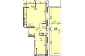 ЖК Затишний-2: планування 2-кімнатної квартири 73.7 м²