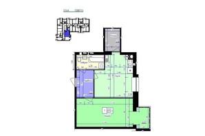 ЖК Збруч: планування 1-кімнатної квартири 54 м²