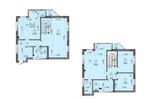 ЖК Зеніт: планування 4-кімнатної квартири 144.43 м²