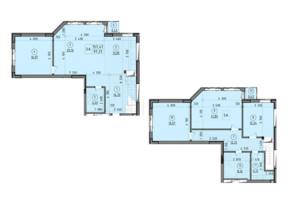 ЖК Зеніт: планування 5-кімнатної квартири 154 м²